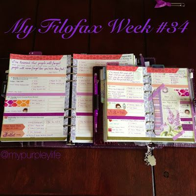 My Purpley Life: My Filofax Week #34