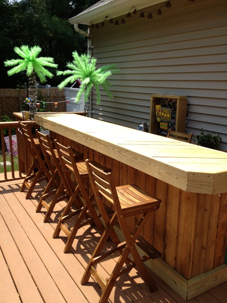 My Deck Bar Built By My Brothers And I In Just A Couple Of
