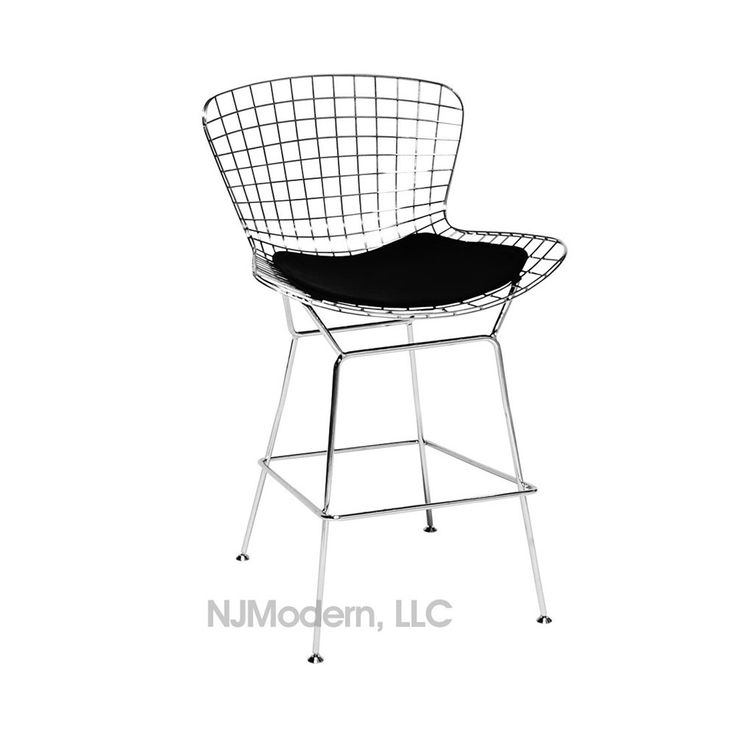 bertoia wire counter stool