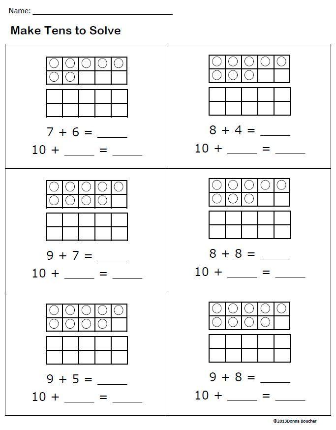 make tens 1 jpg 683 874 pixels math pinterest. Black Bedroom Furniture Sets. Home Design Ideas
