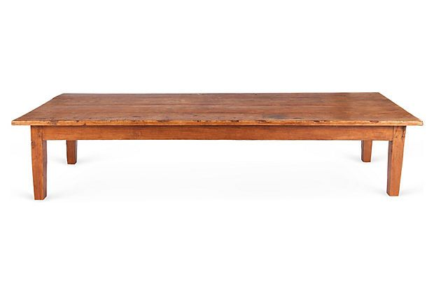 Long Antique Spanish Coffee Table EUROPE2YOU 90 L X 31 W X 18