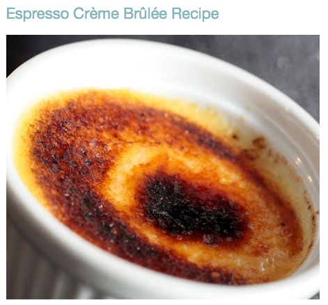 espresso creme brulee | Things I Love | Pinterest