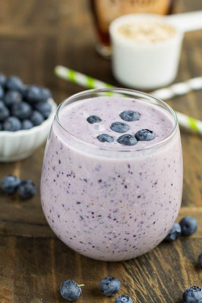 Blueberry Oatmeal Smoothie | try | Pinterest