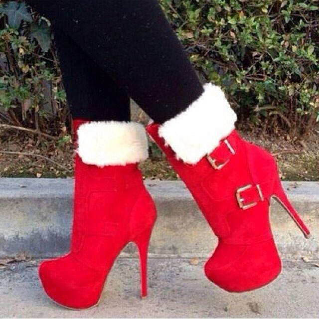 Mrs. Claus? | Shoes n Boots | Pinterest