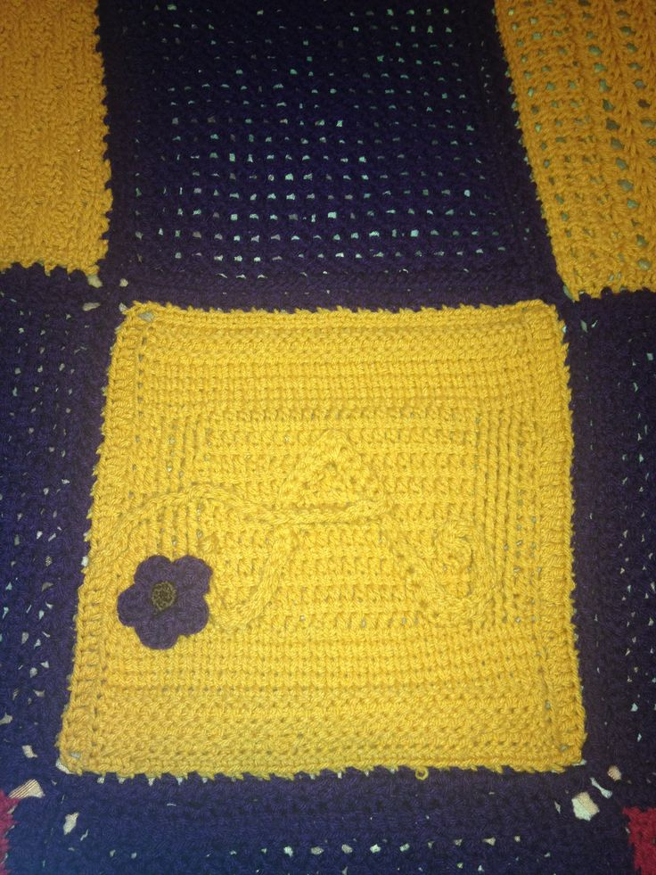 Crocheting Letters On A Blanket : Letter A square from tunisian crochet sampler blanket Kristie L...