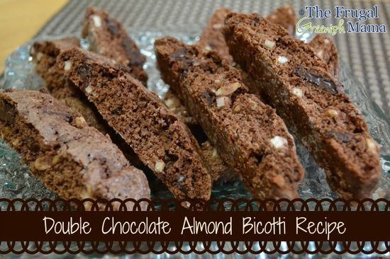 Double Chocolate Almond Biscotti | food | Pinterest