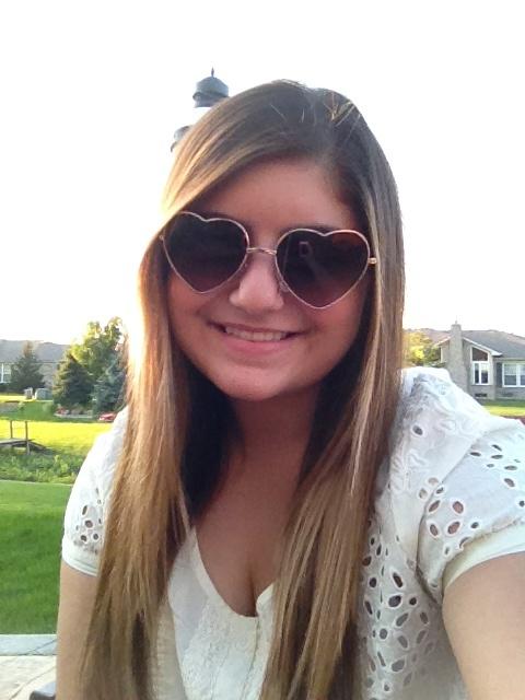 I love my heart sunglasses <3