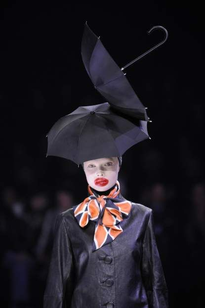 Collaboration between McQueen and Treacy for 2009 Autumn/Winter fashion week.