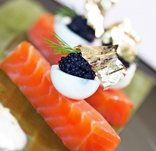 Try it w/: House Lox or sous vide - deviled quail egg - caviar