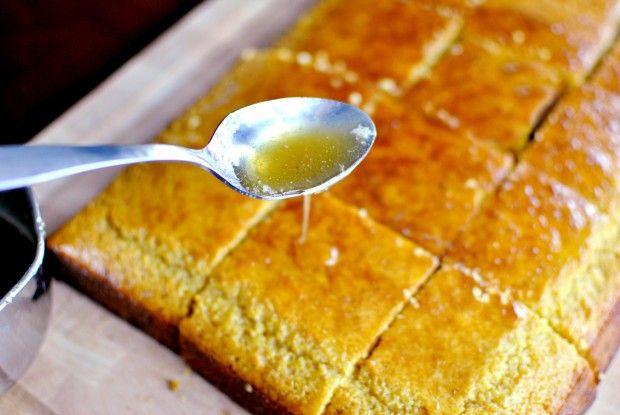 ... is killing me. me. want. food. --Honey Maple Glazed Cornbread Cake