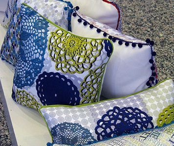 Crocheting On Fabric : Crochet inspired fabric!! Handmade things I like Pinterest