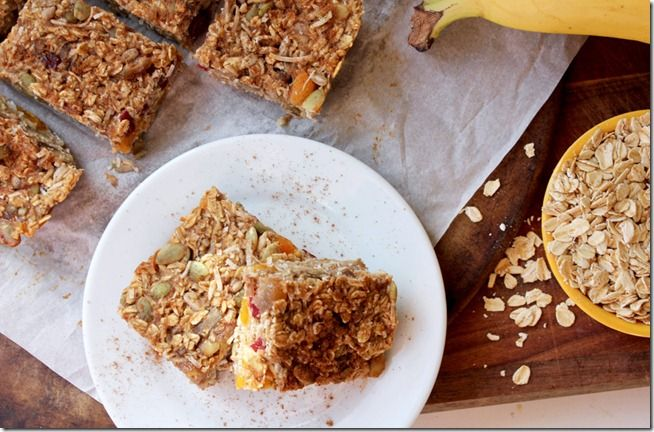 Dried Fruit and Seed Baked Oatmeal Bars | Breakfast | Pinterest