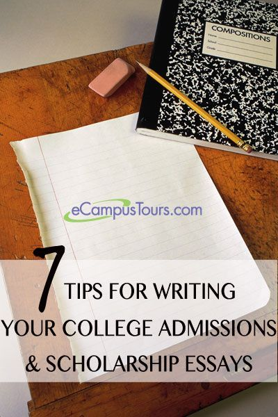Writing essays for colleges for admissions