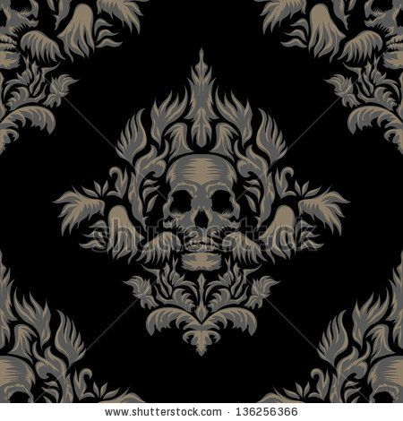 Gothic damask pattern | BH | Pinterest