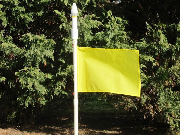 homemade flag pole