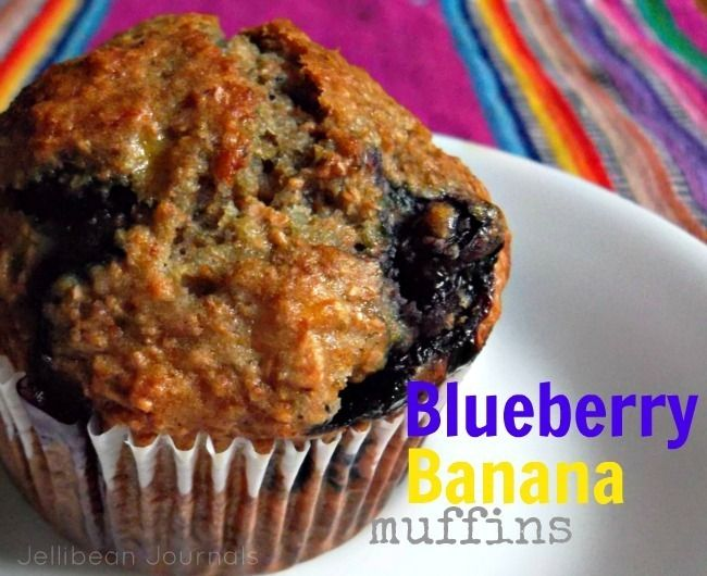 healthy blueberry banana muffins A new weekly fav! So easy and simple ...