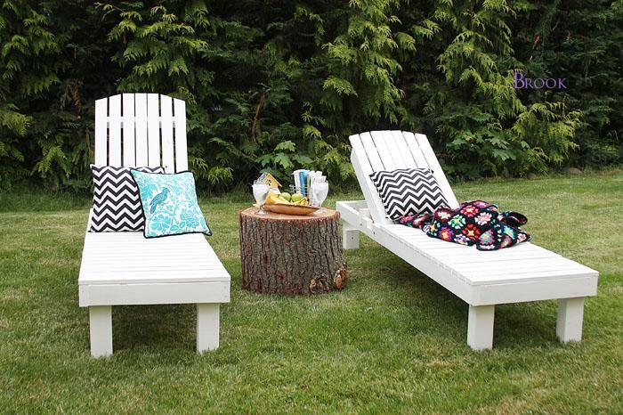 Diy furniture diy wood chaise lounges outside pinterest for Build outdoor chaise lounge