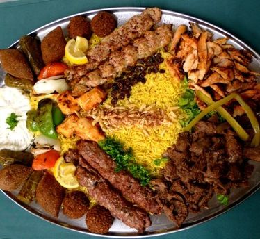 Arabic food party platters middle eastern food pinterest for Arabic cuisine dishes