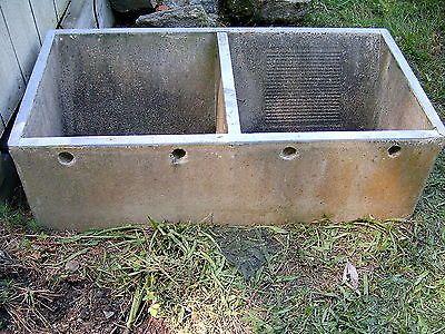Old Vintage Concrete Double Laundry Sink