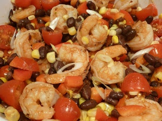 Abbey's Kitchen :: Chipotle Shrimp, Corn and Black Bean Salad