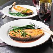 Salmon with Red-Wine Sauce, Recipe from Cooking.com