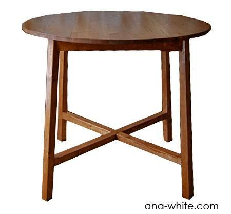 DIY Furniture DIY Round X Base Table Why Not Do It Yourself Pi