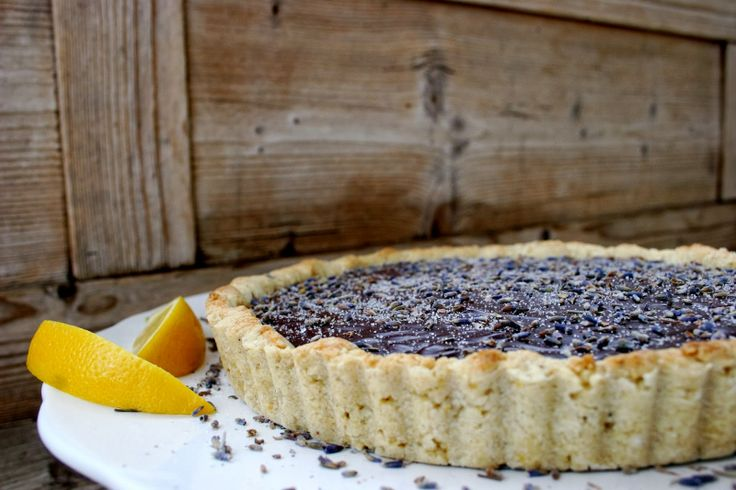 Dark Chocolate Lavender Tart with a Lemon Cardamom Crust / Nothing in ...
