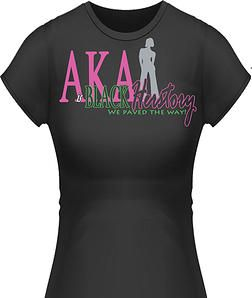 Alpha Kappa Alpha Black Herstory T Shirt Alpha Kappa