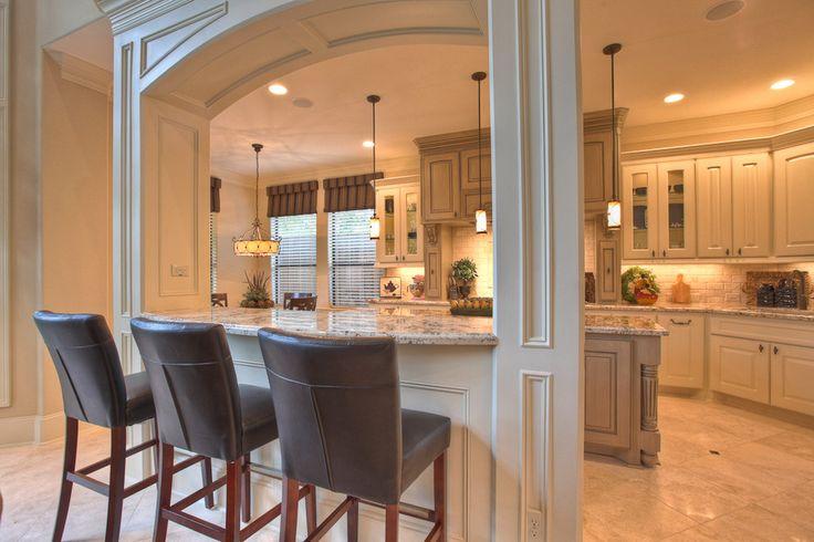 Pillars kitchen ideas pinterest for Half island kitchen