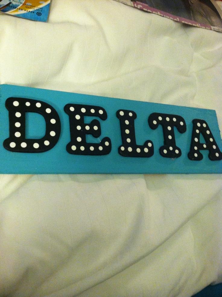 Delta Delta Delta Wooden Letters Tri delta wooden letters. via brenna