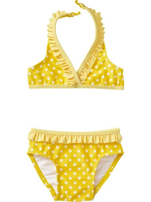 Old Navy   Ruffle-Neck Halter Bikinis for Baby