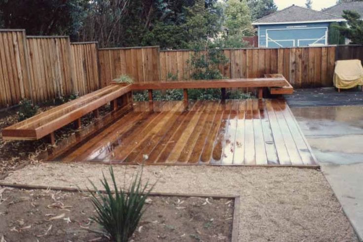 Deck idea for a small backyard | patio | Pinterest