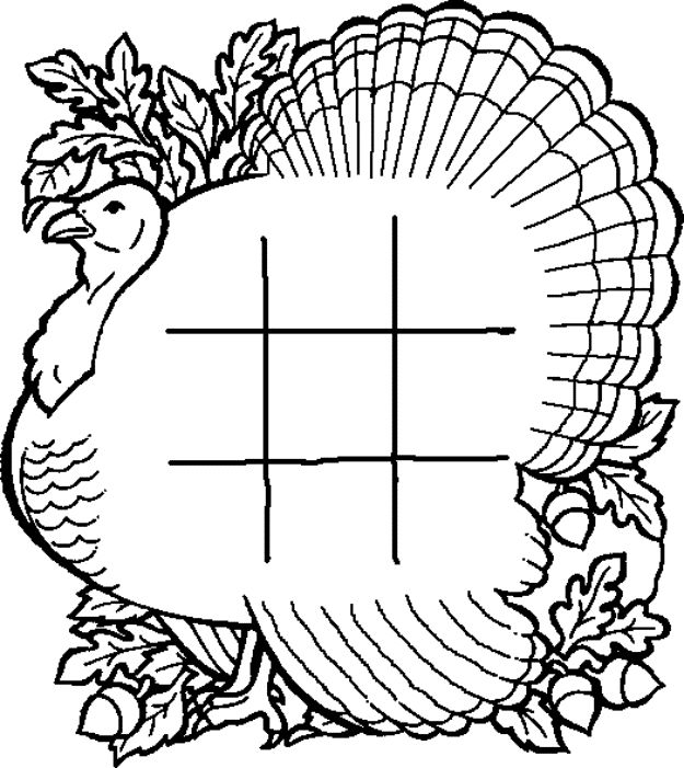 Tic tac toe coloring pages