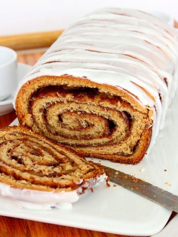 Cinnamon Roll Bread! | Breakfast Bread | Pinterest