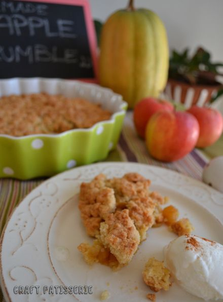 homemade apple crumble, welcome fall | My Blog - CraftPatisserie | Pi ...