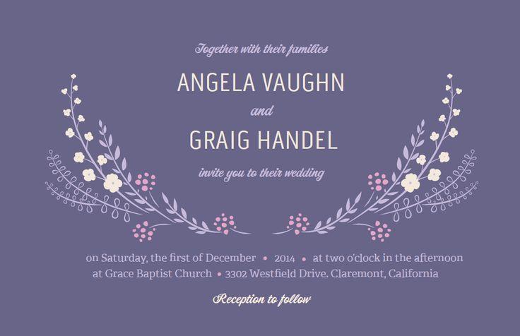 Purple Wedding Invitation : Vistaprint : Purple Wedding ...