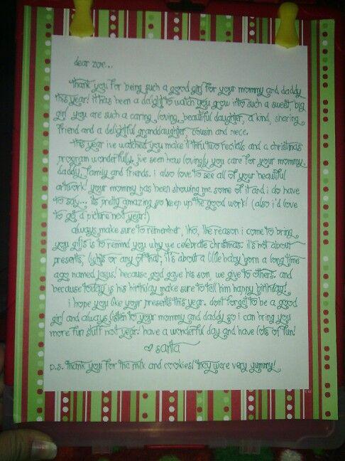 Letter From Santa On Christmas Morning Holidays Pinterest