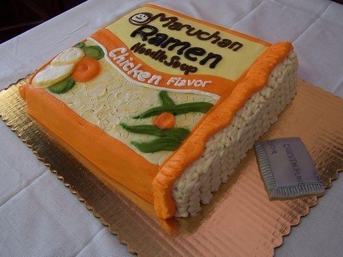 Cake Decorated Like Ramen