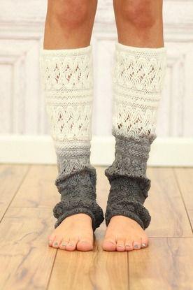 Cream Ombre Leg Warmer