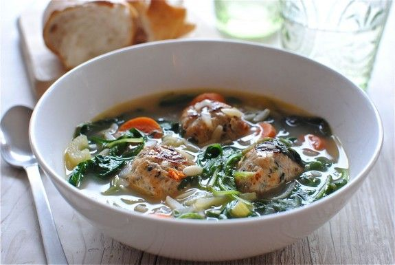 Light Italian Wedding Soup--I've made a recipe very similar to this ...