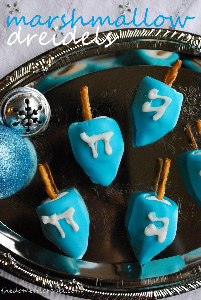 Marshmallow Dreidels! These adorable, tasty dreidels will make a ...