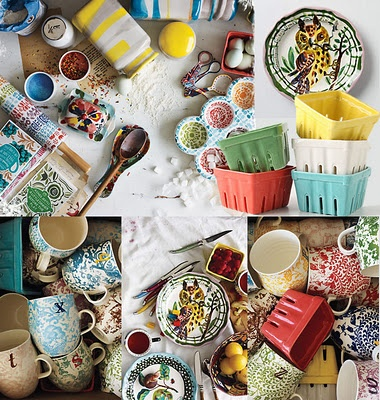 anthropologie's table top and kitchen ware...