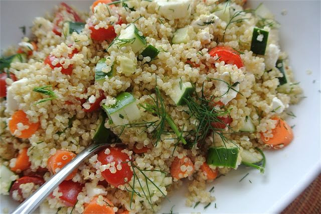 quinoa with currants dill and zucchini toasted quinoa saute with