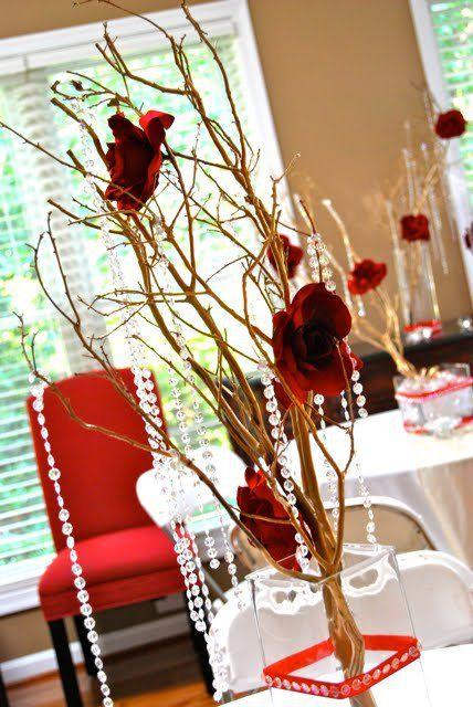 Diy manzanita branch centerpieces fall wedding pinterest
