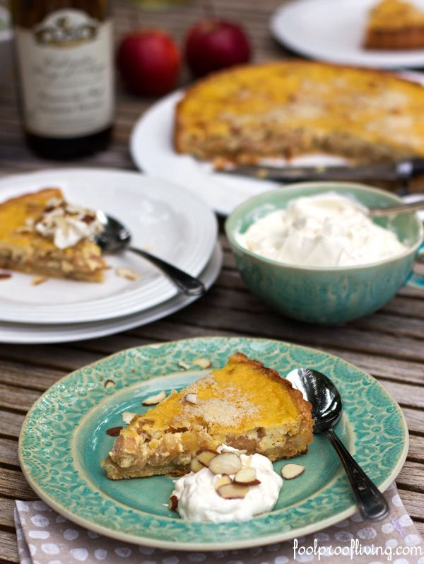 An apple tart with a French twist. A luxurious Calvados Apple Tart ...