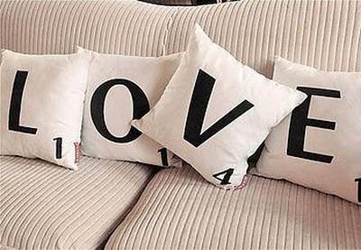 scrabble love pillows