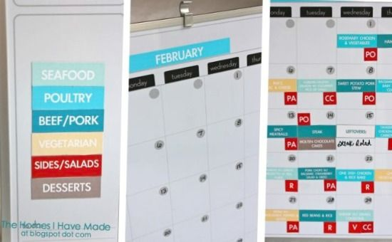 Magnetic Meal Planning