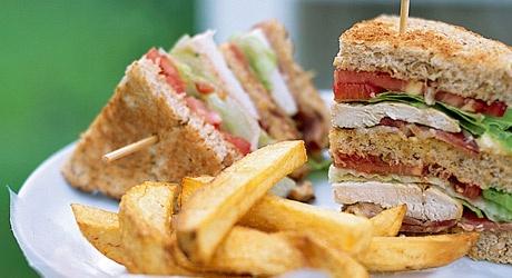 Classic Club Sandwich   Burgers, Sandwiches, Pitas & Wraps   Pinterest
