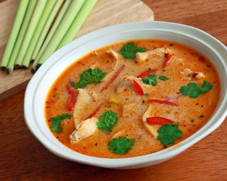 ... mushrooms but traditionally straw mushrooms are used - Tom Kha Gai