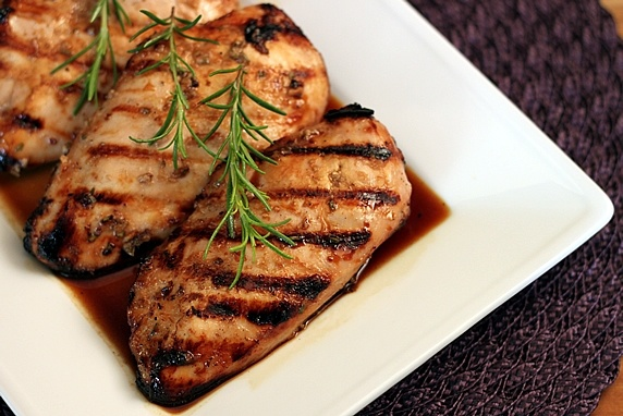 Grilled Chicken with Raspberry Rosemary Marinade Recipe-- moist ...
